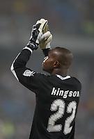 Photo: Steve Bond/Richard Lane Photography.<br /> Ghana v Morocco. Africa Cup of Nations. 28/01/2008. Richard Kingson thanks the crowd