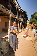 A woman living in Sindhupalchok purchased chickens as part of the local Médecins du Monde Health Care / Micro-finance intiative.