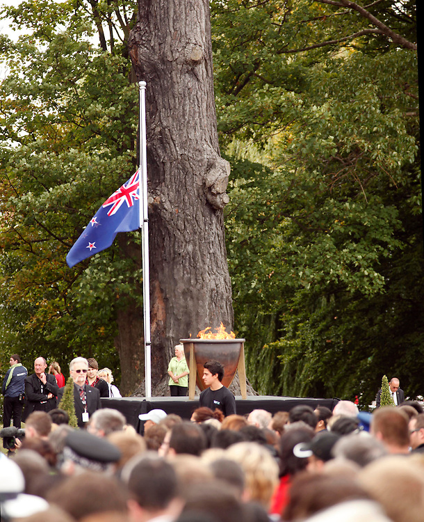 The Civic Memorial Service in Hagley Park to mark the 1st Anniversary of the 2011 Christchurch earthquake, Christchurch, New Zealand, Wednesday, February 22, 2012.  Credit:SNPA / Pam Johnson