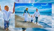 Family Fine Art Portraits by Scottsdale Portrait Artist Stephen Moody - Commissioned Mixed Media Portraiture