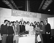 9/1/76.1/9/76.9th January 1976.The Aer Lingus Young Scientist Exhibition at the RDS Dublin. ..Picture shows the group from the Bandon Vocational School, Co. Cork, who presented the project, 'An Integrated Study of Shippool Wood'. Also in picture is other students who attended the exhibition.