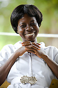 Nurse Mabel Boateng at the Kpong health center in Kpong, Ghana on Wednesday June 17, 2009.