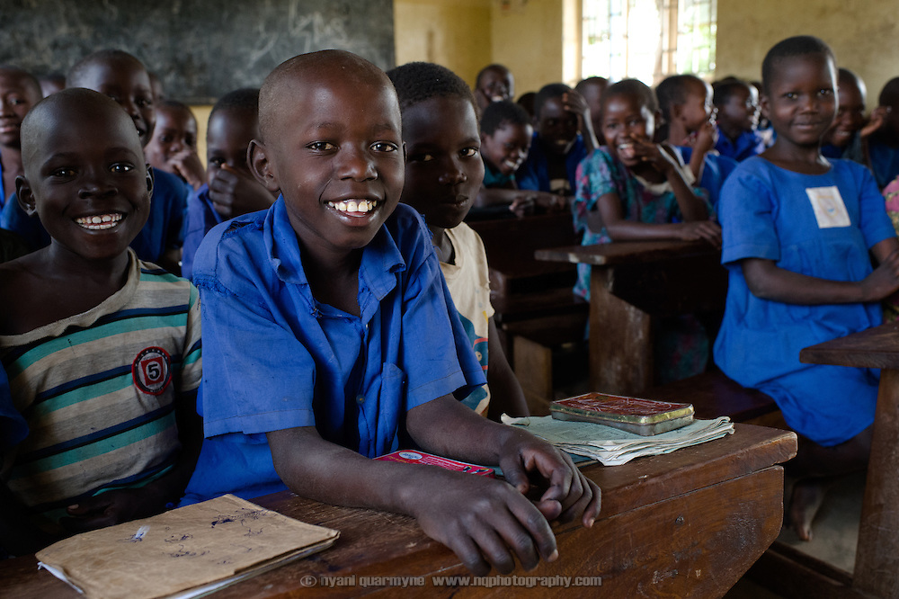 A student in class at Aputiri Primary School in Eastern Uganda on 31 July 2014. The school participates in a Menstrual Health Management program supported by Plan International, which is aimed at both boys and girls.