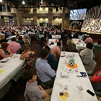 Hundreds of area members of FCA joined together on Friday fot the annual Good Friday breakfast fundraiser to hear former University of Alabama head coach Gene Stallings speak about the importance of FCA in athletics.