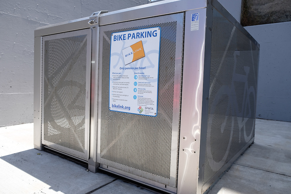 Bike Parking Lockers Near West Portal Station | July 11, 2016