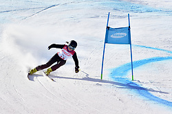 PAPULOVA Mariia LW6/8-2 NPA competing in ParaSkiAlpin, Para Alpine Skiing, Super G at PyeongChang2018 Winter Paralympic Games, South Korea.