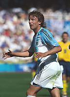 Gabriel Heinze (Argentina).Recently signed by Manchester United.Mens Football Final. Argentina v Paraguay.28/8/2004.Athens Olympics 2004.Credit : Colorsport/Andew Cowie