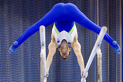 Mitja Petkovsek of Slovenia competes during Qualifications day of Artistic Gymnastics World Cup Ljubljana, on April 26, 2013, in Hala Tivoli, Ljubljana, Slovenia. (Photo By Vid Ponikvar / Sportida.com)