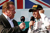 HAMILTON lewis (gbr) mercedes gp mgp w06 ambiance portrait  portrait podium ambiance Schwarzenegger arnold   podium ambiance  during 2015 Formula 1 championship at Melbourne, Australia Grand Prix, from March 13th to 15th. Photo DPPI / Frederic Le Floch.