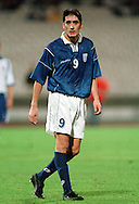 07.10.2000, Olympic Stadium, Athens, Greece. FIFA World Cup Qualifying match, Greece v Finland. Nikolaos Lymferopoulos (GRE)..©JUHA TAMMINEN