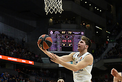 March 2, 2018 - Madrid, Madrid, Spain - Luca Doncic, #4 of Real Madrid in action during the 2017/2018 Turkish Airlines EuroLeague Regular Season Round 24 game between Real Madrid and Fenerbahce Dogus Istanbul at WiZink center in Madrid. (Credit Image: © Jorge Sanz/Pacific Press via ZUMA Wire)