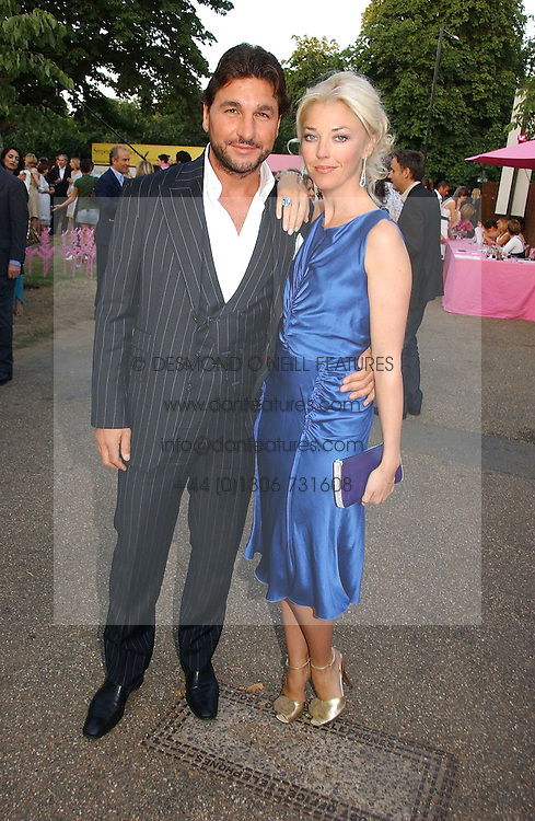 TAMARA BECKWITH and GEORGE VERONI at the Serpentine Gallery Summer party sponsored by Yves Saint Laurent held at the Serpentine Gallery, Kensington Gardens, London W2 on 11th July 2006.<br /><br />NON EXCLUSIVE - WORLD RIGHTS