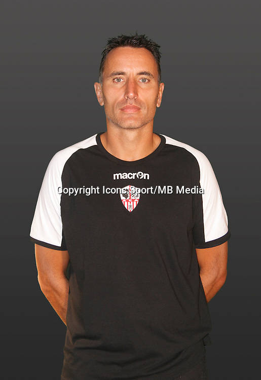 Thierry DEBES - 21.09.2014 - Photo officielle AC Ajaccio - Ligue 2<br /> Photo : Icon Sport