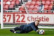 Sunderland goalkeeper Jason Steele (1) warming up  during the The FA Cup 3rd round match between Middlesbrough and Sunderland at the Riverside Stadium, Middlesbrough, England on 6 January 2018. Photo by Simon Davies.