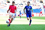Charlton Athletic forward Macauley Bonne in possession of the ball during the EFL Sky Bet Championship match between Wigan Athletic and Charlton Athletic at the DW Stadium, Wigan, England on 21 September 2019.