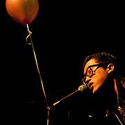 Korean punk rock musician Choi Byeong-hyuk performs in Busan, South Korea.