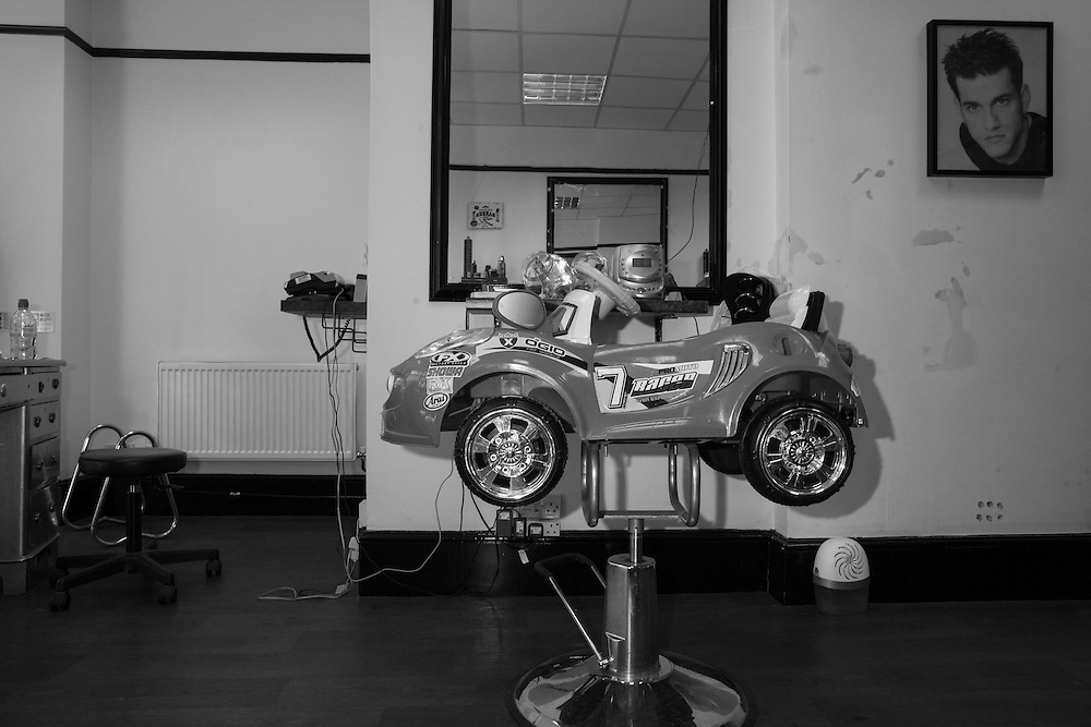 Kiddie barber chair at the boy's hairdresser Berkhamsted England Monday, May 18, 2015 (Elizabeth Dalziel) #thesecretlifeofmothers #bringinguptheboys #dailylife