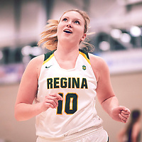 4th year forward, Alexi Rowden (10) of the Regina Cougars during the Women's Basketball Home Game on Fri Nov 30 at Centre for Kinesiology,Health and Sport. Credit: Arthur Ward/Arthur Images