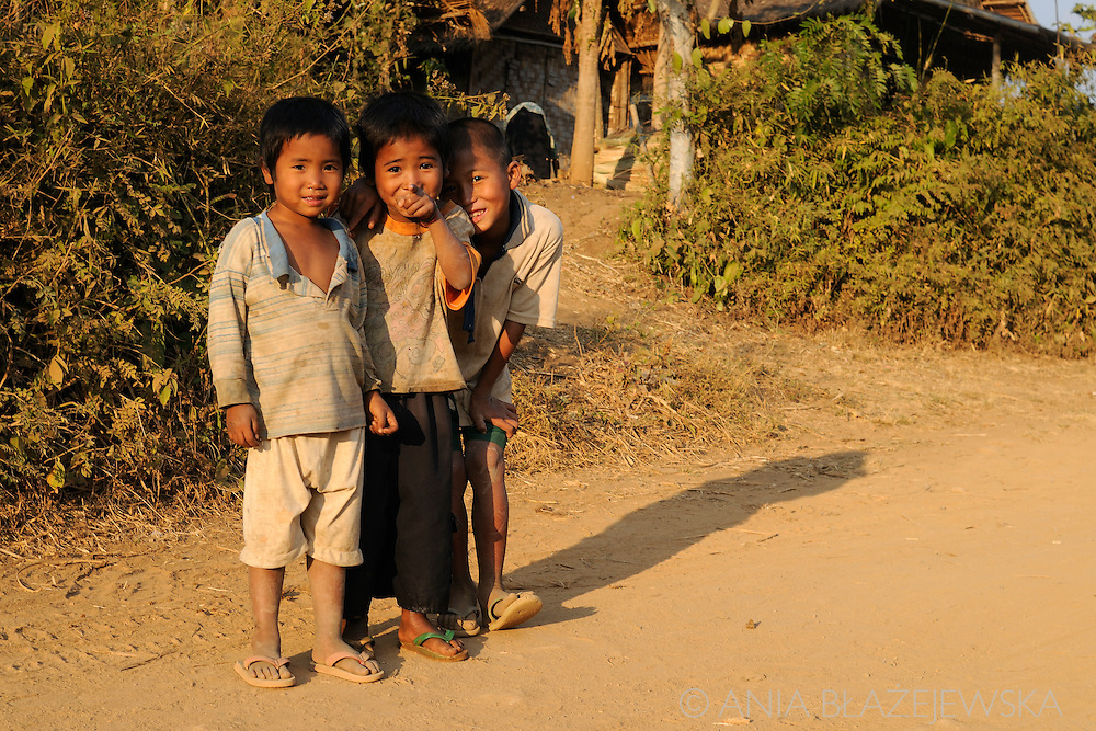 Burma/Myanmar, Shan Hills. Boys fron one of the burmese mountain villages.