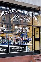 Perfume shop with 1 ml = 1 zloty on the glass in Podgorze Krakow Poland