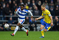Football - 2018 / 2019 FA Cup - Third Round: Queens Park Rangers vs. Leeds United<br /> <br /> Queens Park Rangers' Aramide Oteh holds off the challenge from Leeds United's Adam Forshaw, at Loftus Road.<br /> <br /> COLORSPORT/ASHLEY WESTERN