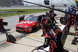 July 1, 2018 - Joliet, Illinois, United States of America - Kurt Busch (41) comes down pit road for service during the Overton's 400 at Chicagoland Speedway in Joliet, Illinois  (Credit Image: © Justin R. Noe Asp Inc/ASP via ZUMA Wire)