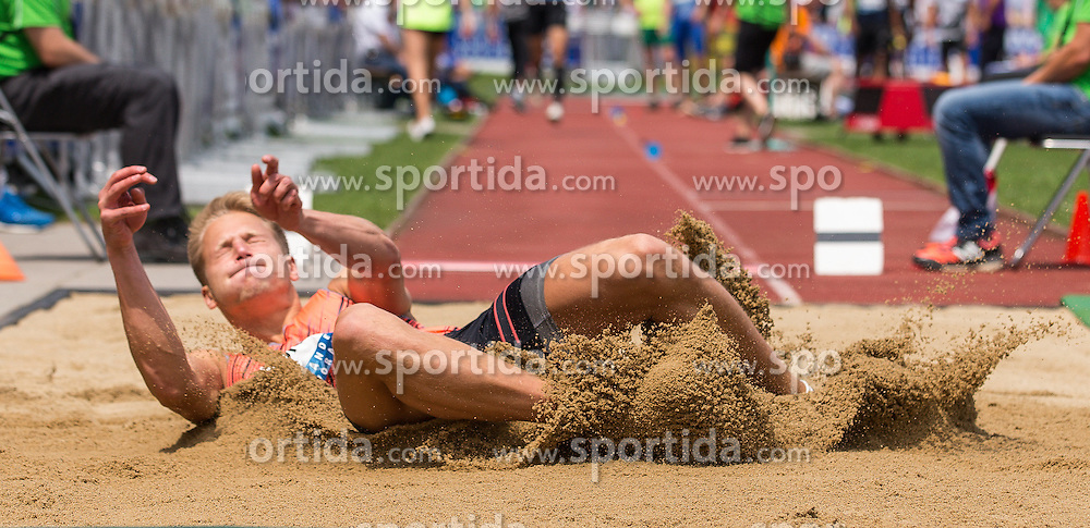 28.05.2016, Moeslestadion, Goetzis, AUT, 42. Hypo Meeting Goetzis 2016, Zehnkampf der Herren, Weitsprung, im Bild Janek Oeglane (EST) // Janek Oeglane of Estland during the Long jump event of the Decathlon competition at the 42th Hypo Meeting at the Moeslestadion in Goetzis, Austria on 2016/05/28. EXPA Pictures © 2016, PhotoCredit: EXPA/ Peter Rinderer