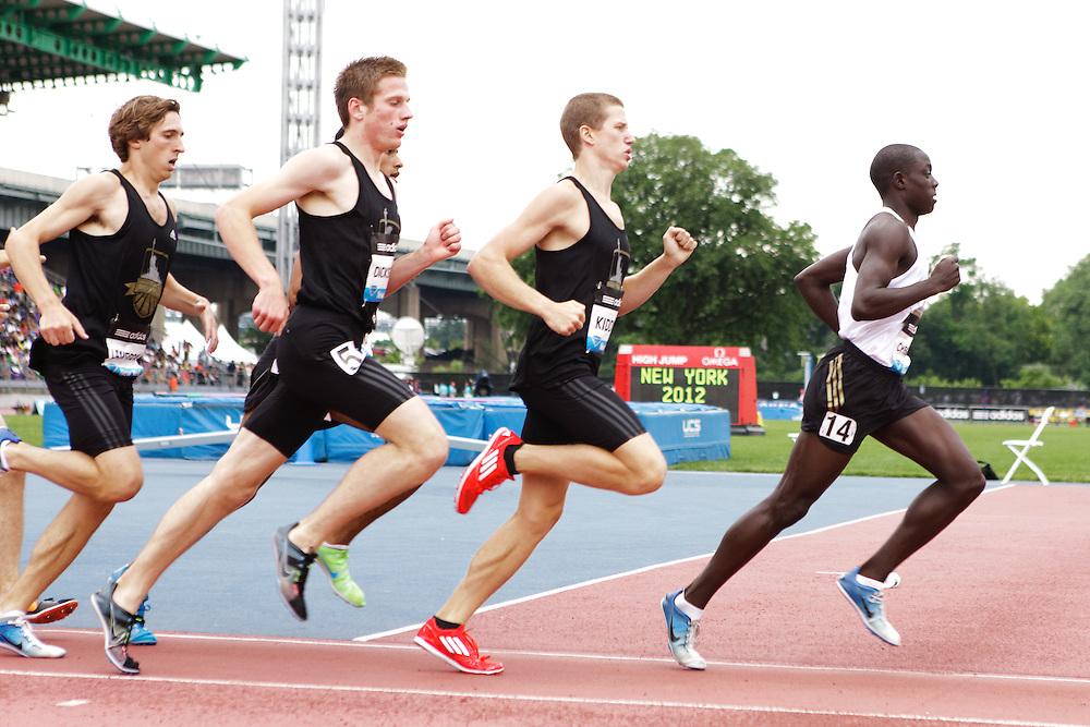Samsung Diamond League adidas Grand Prix track & field; Dream Mile, Boys, Ed Cheserek leads