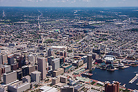 Aerial image of Baltimore Inner Harbor by Jeffrey Sauers of Commerial Photographics