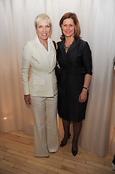Left to right, ANNIE LENNOX and SARAH BROWN at a private dinner for the White Ribbon Alliance's Global Dinner Party Campaign, at Agua, Sanderson Hotel, Berners Street, London on 4th March 2010.