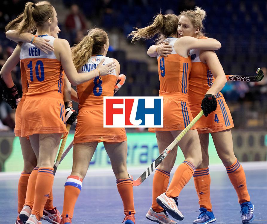 BERLIN - Indoor Hockey World Cup<br /> Women: Poland - Netherlands<br /> foto: Lieke van Wijk.<br /> WORLDSPORTPICS COPYRIGHT FRANK UIJLENBROEK