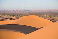 Big sand dunes, Merzouga, Sahara Desert, Morocco