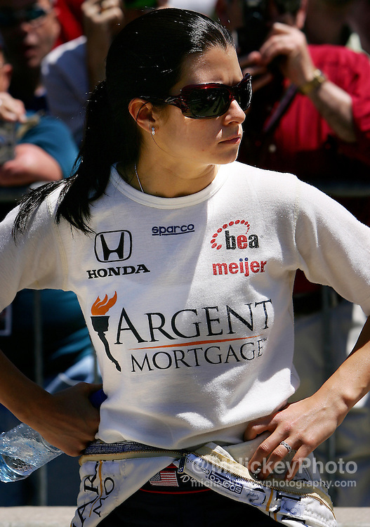 Danica Patrick waits for her turn to qualify for the Indy 500 on May 20, 2006. Photo by Michael Hickey