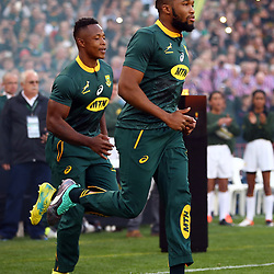 Sbu Nkosi with Lukhanyo Am of South Africa during the 2018 Castle Lager Incoming Series 1st Test match between South Africa and England at Emirates Airline Park,<br /> Johannesburg.South Africa. 09,06,2018 Photo by (Steve Haag Sports)