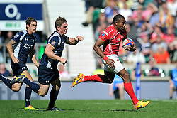 LCpl Semesa Rokoduguni of the Army runs in a try - Photo mandatory by-line: Patrick Khachfe/JMP - Mobile: 07966 386802 09/05/2015 - SPORT - RUGBY UNION - London - Twickenham Stadium - Army v Royal Navy - Babcock Trophy