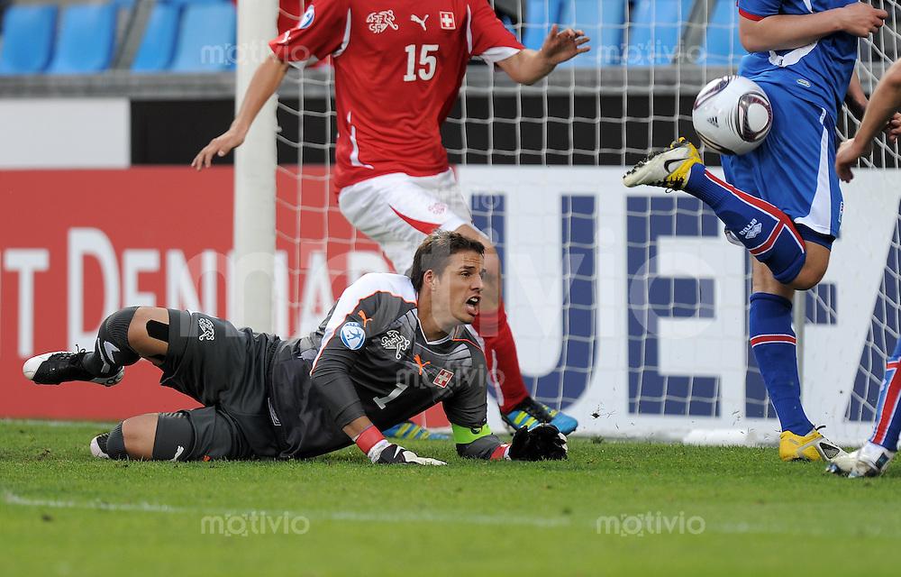 FUSSBALL   UEFA U21-EUROPAMEISTERSCHAFT 2011   GRUPPE A 14.06.2011 Schweiz - Island        Yann Sommer (Schweiz)