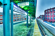 Train station in Lynn, Massachusetts