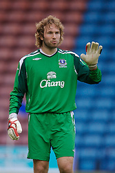 Widnes, England - Tuesday, September 4, 2007: Everton's goalkeeper Stefan Wessels during the Premier League Reserve match at the Halton Stadium. (Photo by David Rawcliffe/Propaganda)
