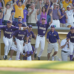 06 June 2009:  during a 5-3 victory by the LSU Tigers over the Rice Owls in game two of the NCAA baseball College World Series, Super Regional played at Alex Box Stadium in Baton Rouge, Louisiana. The Tigers with the win advance to next week's College Baseball World Series in Omaha, Nebraska.