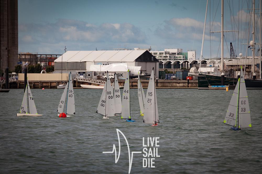 Radio Yacht regatta at Westhaven, Saturday 7 April 2018. Photo by Suellen Davies, Live Sail Die