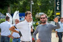 RÜDER Hans Thorben (GER), WEISHAUPT Philip (GER)<br /> Münster - Turnier der Sieger 2019<br /> Parcoursbesichtigung<br /> MARKTKAUF - CUP<br /> BEMER-Riders Tour - Qualifier for the rating competition (comp no 11)  - Stechen<br /> CSI4* - Int. Jumping competition with jump-off (1.50 m) - Large Tour<br /> 03. August 2019<br /> © www.sportfotos-lafrentz.de/Stefan Lafrentz