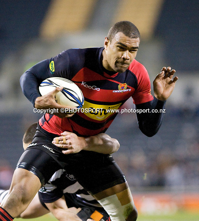 Canterbury's Patrick Osbourne with the ball. ITM Cup. Canterbury v Wellington at AMI Stadium, Christchurch. Friday 30 July 2010. Photo: Joseph Johnson/PHOTOSPORT