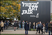 Outside Frieze art Fair. Regent's Park, London, 19 October 2014