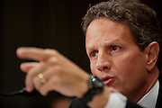 Secretary of the Treasury TIMOTHY GEITHNER testifies before the Senate Small Business Committee Tuesday morning on Capitol Hill.