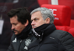 Manchester United manager Jose Mourinho and assistant manager Rui Faria - Mandatory by-line: Jack Phillips/JMP - 21/01/2017 - FOOTBALL - Bet365 Stadium - Stoke-on-Trent, England - Stoke City v Manchester United - Premier League