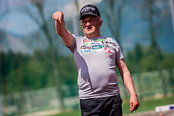 Jani Grilc assistant coach during training of Slovenian Ski Jumping team, on April 25th, 2019 in Sports Park Kranj, Kranj, Slovenia. Photo by Grega Valancic / Sportida