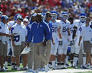 Kentucky Head Coach Joker Phillips yells at an official about a penalty at Vaught-Hemingway Stadium in Oxford, Miss. on Saturday, October 2, 2010. Ole Miss won 42-35 to improve to 3-2..