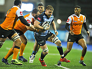 Cardiff Blues' Macauley Cook in action in todays match<br /> <br /> Photographer Mike Jones/Replay Images<br /> <br /> Guinness PRO14 Round 14 - Cardiff Blues v Cheetahs - Saturday 10th February 2018 - Cardiff Arms Park - Cardiff<br /> <br /> World Copyright © Replay Images . All rights reserved. info@replayimages.co.uk - http://replayimages.co.uk