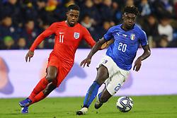 RYAN SESSEGNON (ENGLAND) VS MOISE KEAN (ITALY)     <br /> Football friendly match Italy vs England u21<br /> Ferrara Italy November 15, 2018<br /> Photo by Filippo Rubin