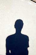 upper body shadow of a man